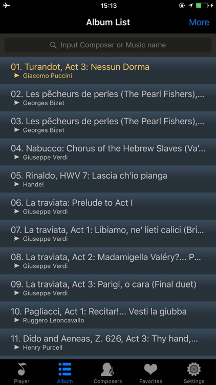 opera classical music songs - extreme mini player screenshot-3