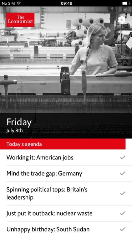 The Economist Espresso - Brief Morning News Update app image