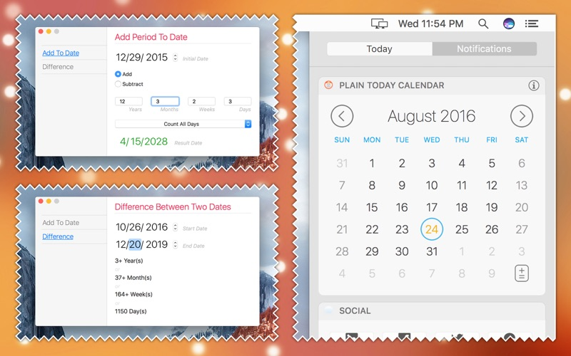 Plain Today Calendar