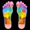 The perfect interactive reflexology chart for both feet & hands