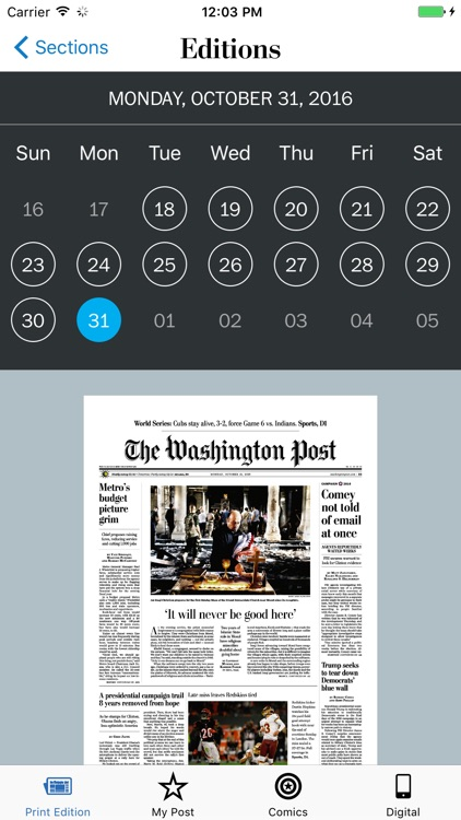 Washington Post Print Edition
