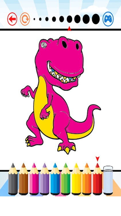 Dinosaur Coloring Book - Dino Paint for Kids screenshot-4