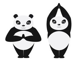 Panda Animated Dancing Yoga Stickers Mania