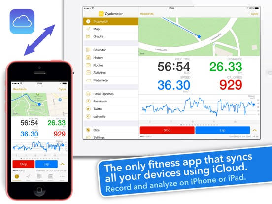 Cyclemeter Cycling Running GPS Screenshot