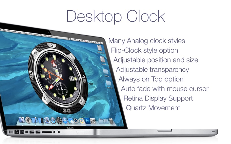 Desktop Clock Live 2 2 0 Free Download | Mac Torrent Download