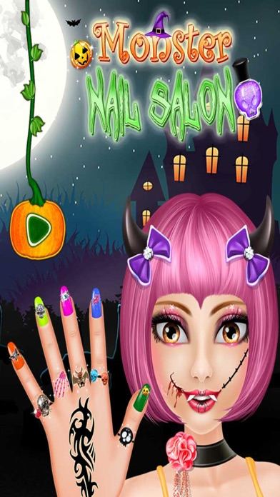 Monster Nail Salon - Halloween Girls Nail Art screenshot one