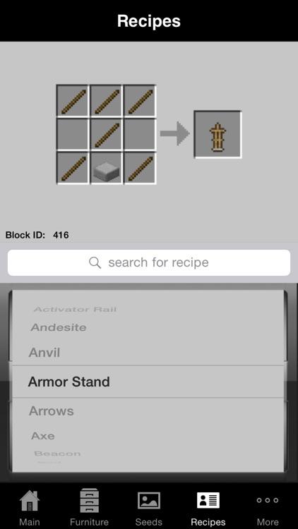 Guidecraft Pro - Furniture, Seeds.. for Minecraft screenshot-3