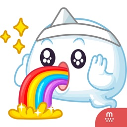 Happy Ghost stickers by Petshopbox for iMessage