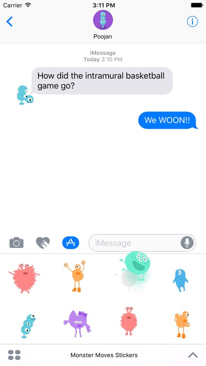 IDEOko Monster Moves Stickers screenshot-4