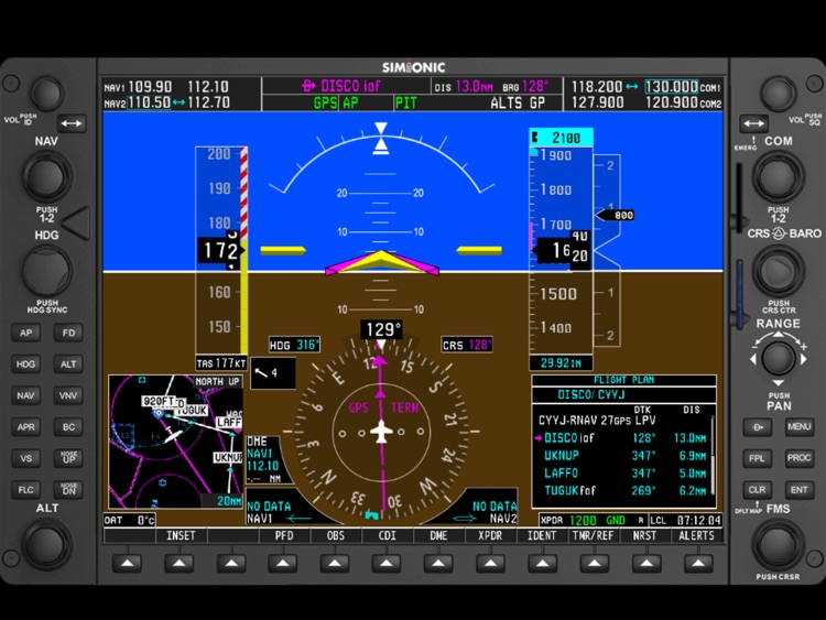 Simionic G1000 (PFD) screenshot-0
