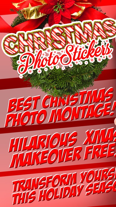 Christmas Photo Booth 2016 - Santa Camera Stickers