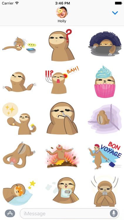 Andy the Sloth - Lazy Stickers