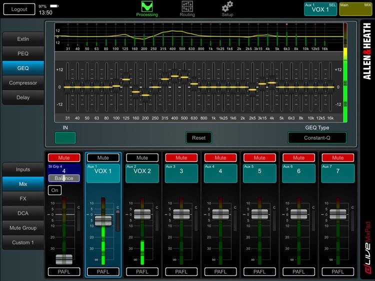 dLive MixPad