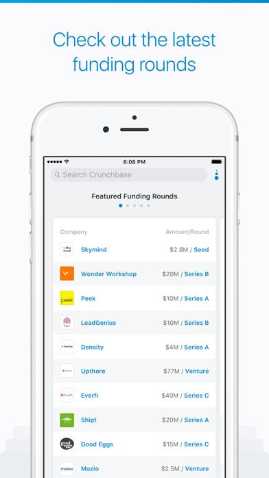 Screenshot 2 for CrunchBase's iPhone app'