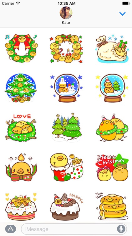 Yelly Xmas The Chicken Stickers