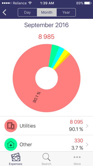 uSpend - Spending Tracker,Free Expense manager app screenshot three