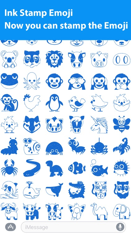 Emoji.Stamp - Ink Stamp Emoji Sticker for iMessage screenshot-3
