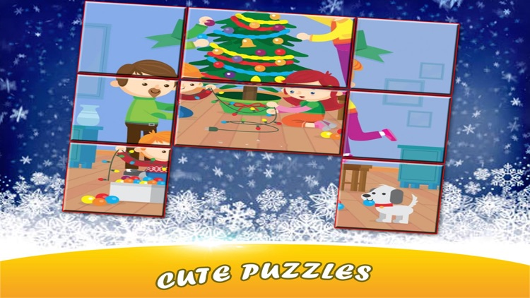 Christmas Sliding Puzzle for Kids screenshot-3