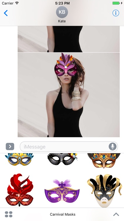 Carnival Mask Stickers Mania