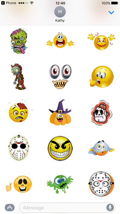 Zombie Stickers for Halloween Texting screenshot three