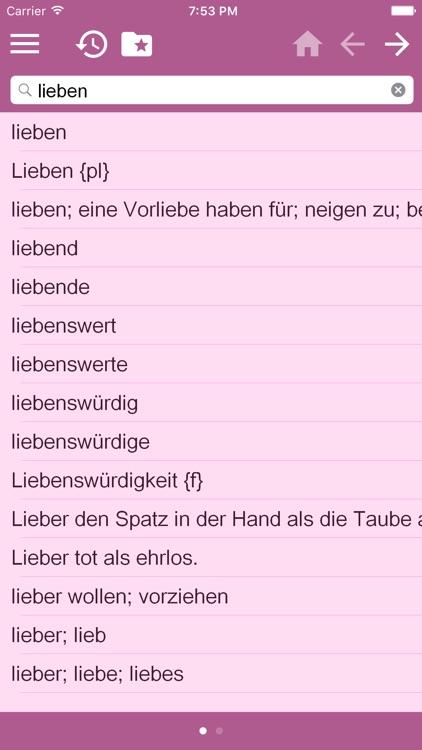 English<->German Dictionary Free
