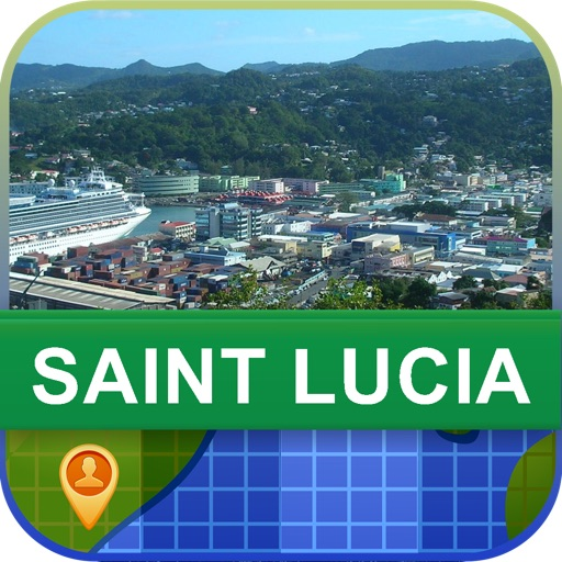 Offline Saint Lucia Map - World Offline Maps