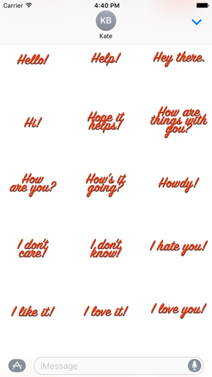 Expressions Red Stickers for iMessage screenshot-3