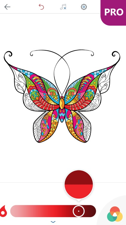 Coloring Pages Ipad Pro : Butterfly coloring pages for adults pro by peaksel