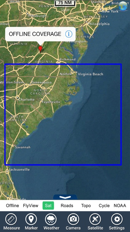 Boating Georgia South to North Carolina GPS Map screenshot-4