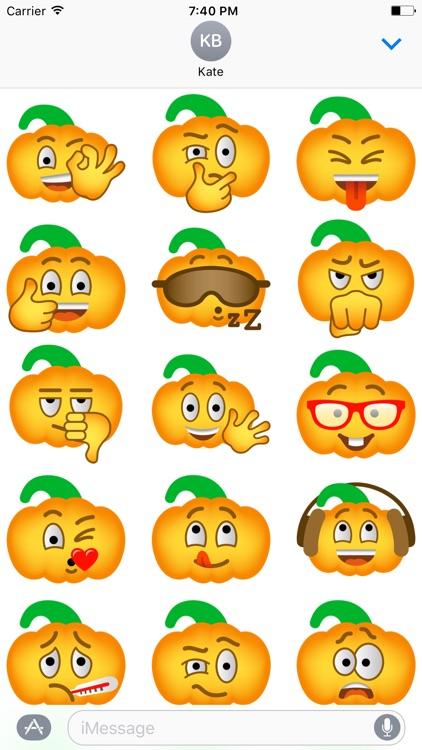 Pumpkin Halloween Emoji Sticker #4