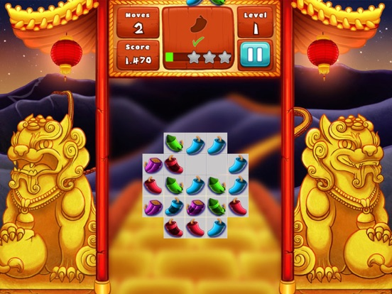 The Lion Dance Match The Fire Crackers Puzzle-ipad-1