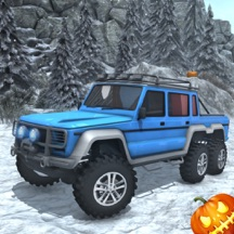 Snow Driving Simulator - Off Road 6x6 Truck Game