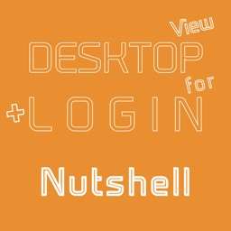 DESKTOP VIEW + LOGIN for Nutshell