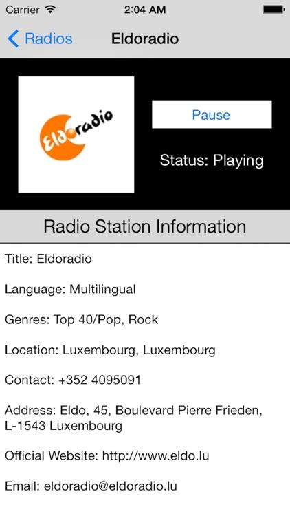 Luxembourg Radio Live Player (Lëtzebuerg) screenshot-4