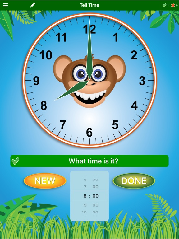 Jungle Time Learn How To Tell Time For Ipad on Practice Letter And Number Writing Apps