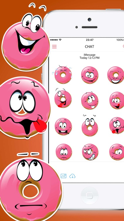 Donuts Emoticons Stickers