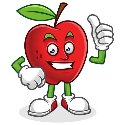 Funny Apple Stickers Vol 01