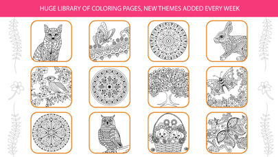 Inky Treasure - Coloring Book for Adults screenshot two