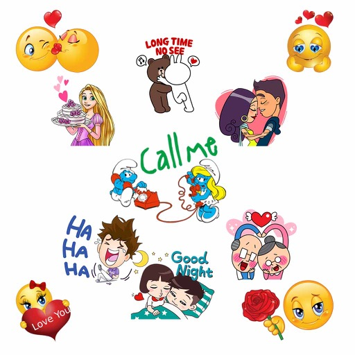 Emoticon Stickers - Cool Romance Emojis for chat iOS App