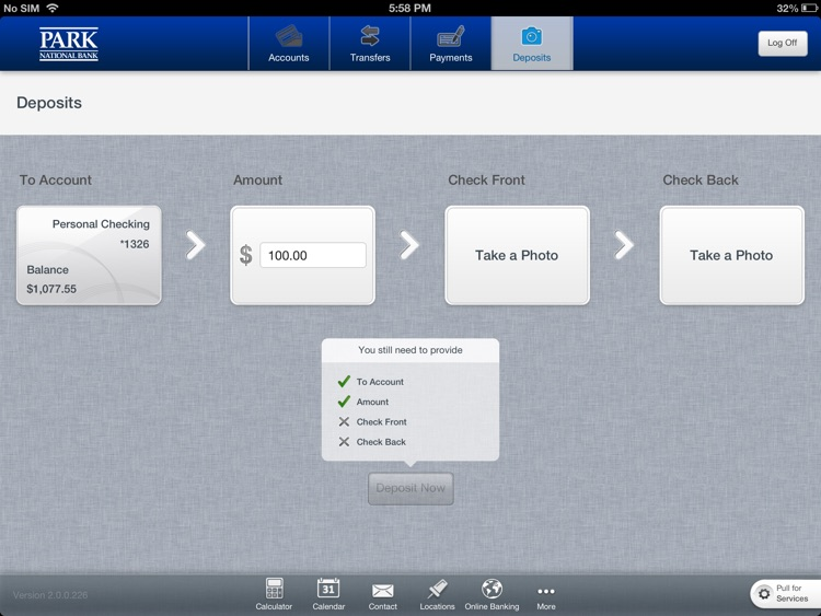 Park National Bank for iPad