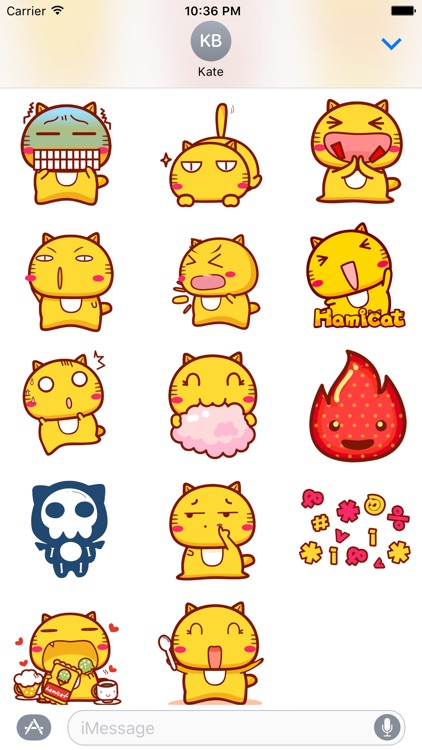 Hami cat sticker pack for iMessage screenshot-3