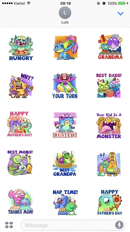 Happy Family Stickers