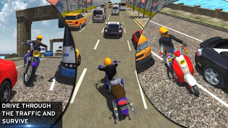 Bike racing Highway Traffic Wheeling 3D master screenshot-4