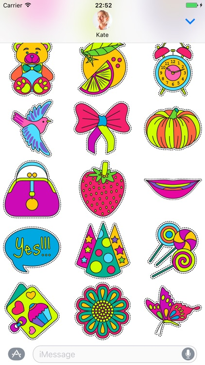 Fashionable cute - Stickers for iMessage