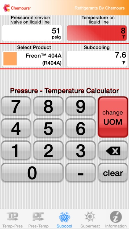 Chemours PT Calc screenshot-2