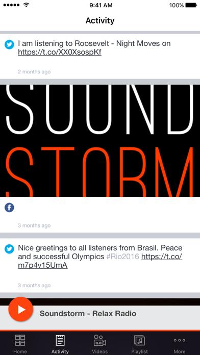 Soundstorm - Relax Radio screenshot two