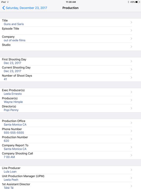 Pocket Call Sheet screenshot
