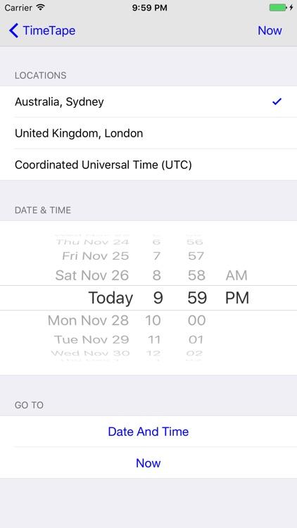TimeTape - Visual Time Zone Converter