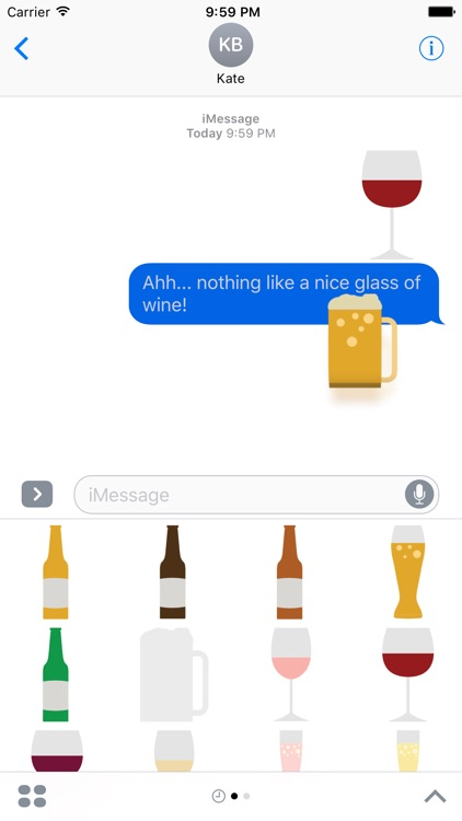 Beer and Wine Sticker Pack for iMessage screenshot-2