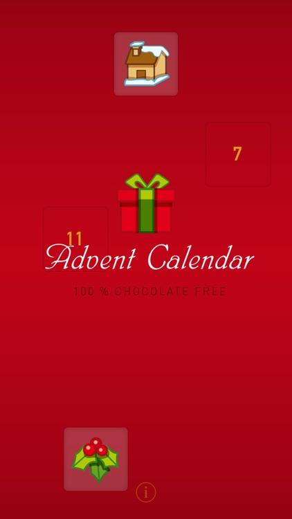 Advent Calendar 100 % Chocolate Free